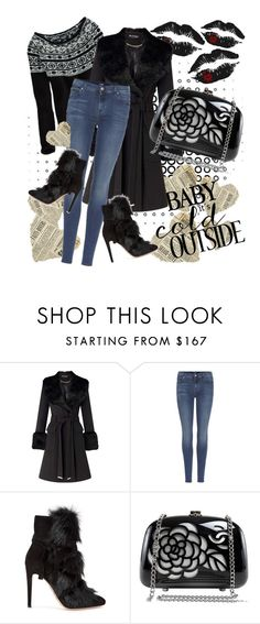 """""""Not Gray"""" by april-wilson-nolen ❤ liked on Polyvore featuring Miss Selfridge, 7 For All Mankind, Gianvito Rossi and Chanel"""