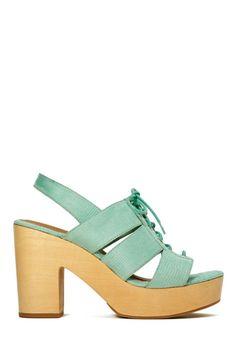 Shoe Cult Cybill Sandal - Mint SALE $39