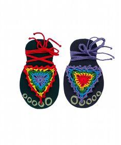 Rainbow barefoot sandals, nude shoes, beach wear, hippie sandals, rasta wear by MultiKultiCrafts