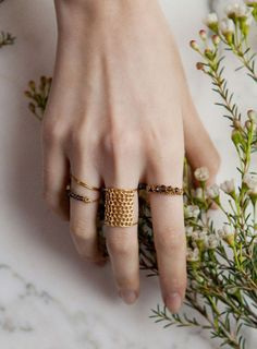 "The ""chainmail"" ring is fantastic and fresh.  Lara Melchior: capsule collection x & Other Stories"