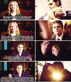 Tvd - Candice King and Paul Wesley talking about Caroline and Stefan