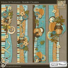 Hints Of Autumn - Border Clusters :: Page Edges :: Embellishments :: SCRAPBOOK-BYTES