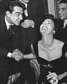 Walter Chiari and Ava Gardner at their first meeting in Rome (1954) // During the making of The Little Hut he met Ava Gardner (still formally married to Frank Sinatra but already estranged from him), and he started a passionate and tumultuous relationship with the American superstar.