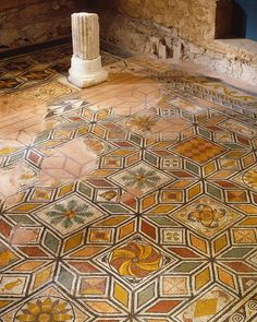 Floor mosaics of Domus Ortaglia, Brescia (Brixia). These are probably from Delle Fontane house which was used from first to fourth century AD. Ancient Rome, Ancient Greece, Ancient History, European History, Ancient Aliens, American History, Rome Antique, Antique Art, Tile Art