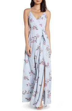 e7d3e9bb77b Free shipping and returns on WAYF The Angelina Slit Wrap Gown at  Nordstrom.com.