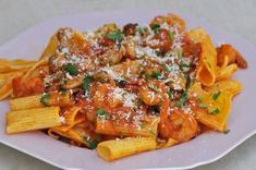 Ριγκατόνι με θαλασσινά Japchae, Recipies, Food And Drink, Chicken, Meat, Ethnic Recipes, Recipes, Cooking Recipes