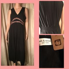 "Dress New! Stay cool this summerin this soft, 100% cotton black dress in sizes S,M,L. Model is 5'9"" size 5 Jon & Anna Dresses Maxi"