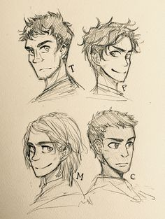 Rick's attractive heroes!  Why could he make such lovable characters? I always admire him.  By the way I haven't read Mcga so Magnus's face is my image. The only thing I know about him is he resembles Kurt Cobain. Wow he would look cool. Tres is also my image. He is a mature man I think.