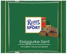 """Fake """"Ritter-Sport"""": Essiggurke-Senf"""