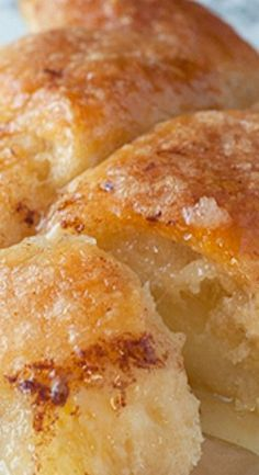 Easy Country Cinnamon Apple Dumplings dessert or breakfast recipe is a classic fall and holiday treat loaded with cinnamon and smothered in a buttery Mountain Dew sauce! Apple Dessert Recipes, Fruit Recipes, Apple Recipes, Easy Desserts, Baking Recipes, Sweet Recipes, Delicious Desserts, Apple Deserts, Recipies