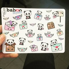 New Baboo Panda Stickers Available