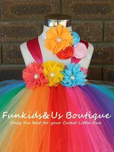 Tutu Rainbow robe pleine longueur de plancher/longueur