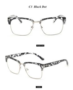 ec2709537f0 Brand Half Frame Female Eyeglasses Men Vintage Eye Glasses Frame for Women  Optical Spectacle Frame Reading Prescription Eyewear