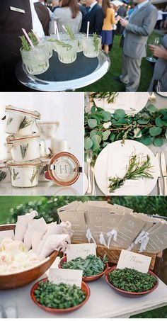 Using #Herbs in your #wedding or #party: Advice and inspiration from Lucky in Love Wedding Blog