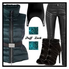 Puff Luck by gracecar3 on Polyvore featuring polyvore, fashion, style, Doublju, Moncler, Yves Saint Laurent and clothing
