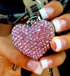 pink heart so getting this done to my nails