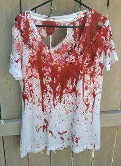 Halloween bloody zombie shirt