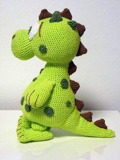 Crochet Pattern Dinosaur Lucky Amigurumi PDF Cute von SKatieDes