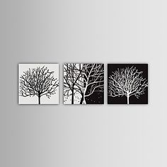 Hand-painted Abstract Oil Painting with Stretched Frame - Set of 3 – USD $ 99.99