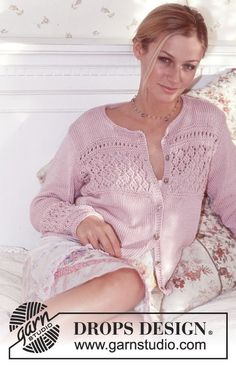 English Miss - DROPS Cardigan in Muskat - Free pattern by DROPS Design