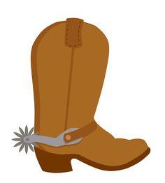 Bota Cowboy / Cowboy Boot / Country / Western / Velho Oeste / Festa / Decoração / Faroeste / Clipart / Desenho