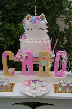 Carolina's Unicorn birthday party | CatchMyParty.com