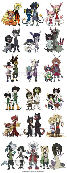 Narutokemon by FennecSilvestre.deviantart.com on @deviantART