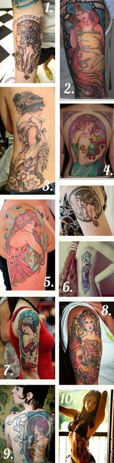 Alphonse Mucha tattoos