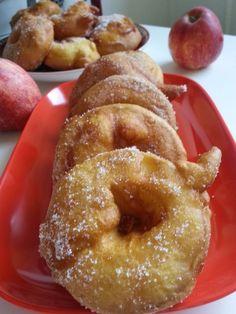 Beignets aux pommes (sans repos de la pâte)