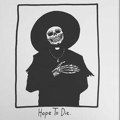 So I cross my heart and I hoped to die. Trippy Hippie, Tattoo Samurai, Matt Bailey, Under Your Spell, Skeleton Art, Dibujos Cute, Skull And Bones, Memento Mori, Tattoo Ideas