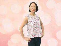 Free sewing pattern Camellia-Top-by Sewing Avenue size 14-20