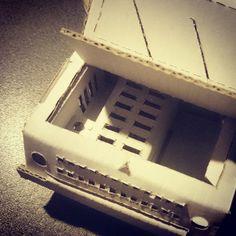 A detail of my cardboard toy car. Made by Soyski  #toy #car #cardboard #fun #paper #cut #handmade #Soyski