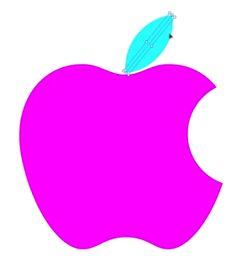 purple apple clipart. apple pink logo - bing images purple clipart
