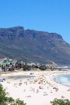 The weather is ideal for spending a day at Camps Bay - Cape Town Places To Travel, Places To Visit, Travel Local, Camps Bay Cape Town, Cape Town Tourism, South Afrika, Bay Village, Namibia, Le Cap