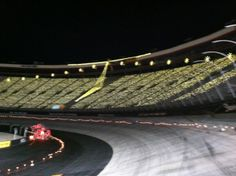 Bristol race track with the Christmas lights