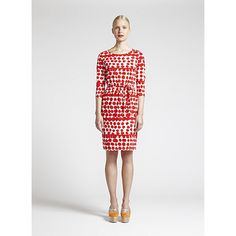 From day to night, weekday to weekend, this versatile dress will be a go-to garment. Marimekko Tepeu Cream/Red Dress - $165.00