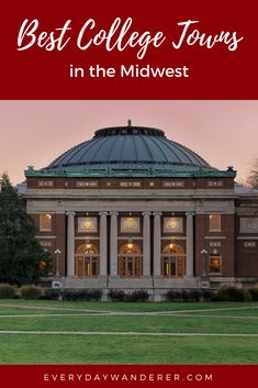The Best College Towns in the Midwest Group Travel, Travel Usa, Bloomington Illinois, College Fun, Travel Guides, The Good Place, Travel Destinations, Places To Go, Indiana University