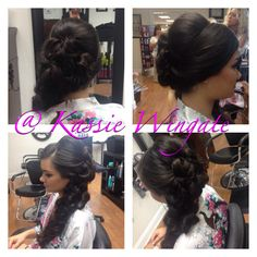 wedding updo. long hair. thick hair. done by kassie at debbies day spa and salon in st. augustine florida