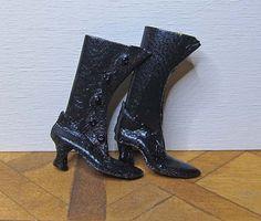 Sylvia Rountree, The Doll Cobbler, IGMA fellow - Black Boots