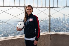 Carli Lloyd in NYC for celebration of the centennial of U.S. Soccer. (Facebook) Carli Lloyd, Great Women, Just Amazing, Soccer Players, Role Models, Adidas Jacket, Celebration, Nyc, Football