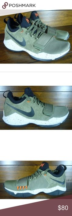 e96cc35ab19 Nike PG 1 Elements Basketball Shoes Olive Green