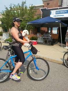 We cater to pets at Waterfront Bike Rental