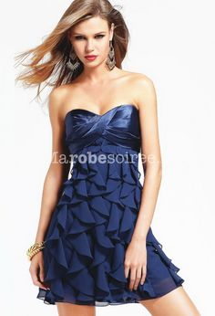 Robe de cocktail bleue