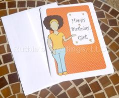 African-American Birthday Card for Women/Teens by RuthiesGreetings