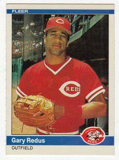 Gary Redus RC # 481 - 1984 Fleer Baseball MLB Rookie