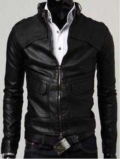 Handmade men lather jacket, slim fit men leather