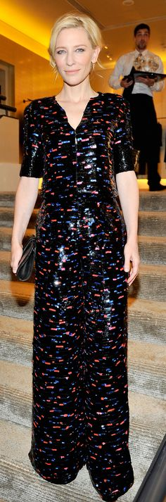 Cate Blanchett in Armani Privé at Armani's Oscars party.