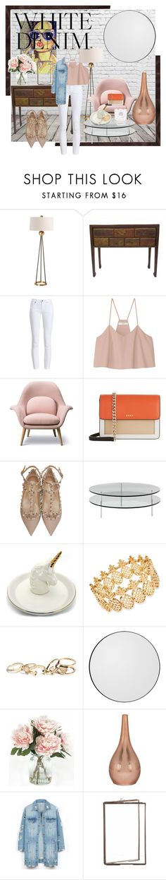 """Friday Denmin"" by bren-fashun on Polyvore featuring Arteriors, Barbour, TIBI, DKNY, Valentino, SCP, INC International Concepts, GUESS, Home Decorators Collection and LE3NO"
