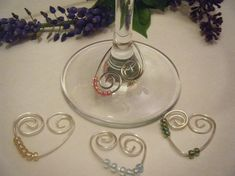 Items similar to Sterling Silver Heart Wine Charms in Sparkly Colors on Etsy Liquor Bottle Crafts, Wine Bottle Charms, Wine Glass Crafts, Wine Craft, Wine Bottles, Bottle Art, Wine Glass Markers, Crafts For Seniors, Wine Decor