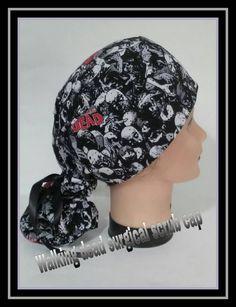 The walking Dead surgical scrub cap/ scrub hats/ Embroider scrub cap/ Embroider  scrub hats